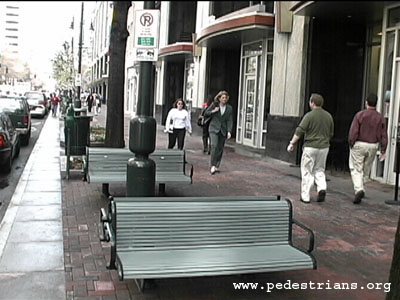 Perils for pedestrians sidewalk setbacks for Furniture zone sidewalk